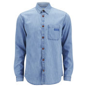 Jack & Jones Men's Sharp Long Sleeve Denim Shirt - Light Blue Denim