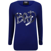 Markus Lupfer Women's Bad Sequin Natalie Jumper - Blue