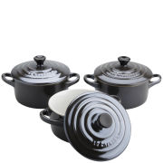 Le Creuset Set of 3 Mini Casserole Dishes - Precious Black