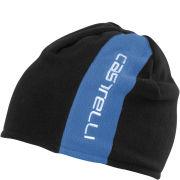 Castelli Unisex Reversible 2 Beanie - Drive Blue/Black Inside Black/Drive Blue