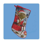 Star Wars Santa Yoda Tapestry Christmas Stocking
