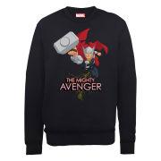 Marvel Avengers Assemble Thor The Mighty Avenger Men's Sweatshirt - Black
