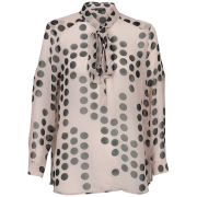 Full Circle Women's Marshal Polka Dot Blouse - Nude