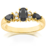 Gold Plated Oval Sapphire Ring
