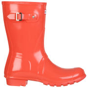 Hunter Women's Original Short Gloss Wellington Boots - Flame