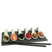 Natural Living 7 Piece Slate Tapas Set