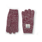 Voi Men's Fire Twist Knitted Gloves - Tibetan Red