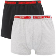 Lambretta Men's 2 Pack Boxers - Black/Grey