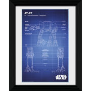 Star Wars AT - AT Blueprint - 30 x 40cm Collector Prints