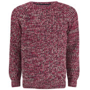 Brave Soul Men's Dawkins 3 Colour Twist Jumper - Red