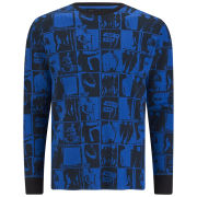 Marc by Marc Jacobs Men's Silhouette Print Long Sleeve T-Shirt - Blue Multi