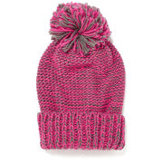 Impulse Women's Neon Knitted Bobble Hat - Pink