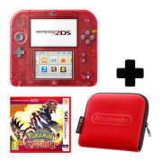 Nintendo 2DS Transparent Red Pokémon Omega Ruby Pack
