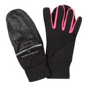 RonHill Switch Running Gloves - Black/Pink