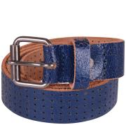 Mustard 'Maybank' Blue Mens Leather Belt