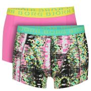 Bjorn Borg Short Shorts - 2 pack Glitch & Solid- Black/ Azalea Pink