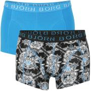 Bjorn Borg Men's 2-Pack Cotton Stretch Shorts - Brilliant Blue