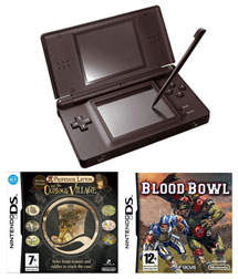 Nintendo DS Lite Black: Bundle (including Professor Layton & BloodBowl)