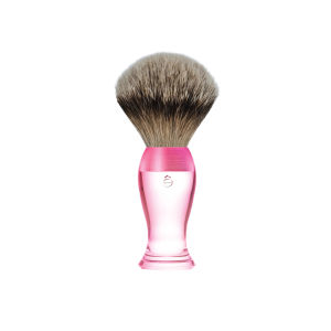eShave Silvertip Badger Hair Shaving Brush Short Handle - Pink