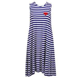 Sonia by Sonia Rykiel Women's Stripe Maxi Jersey Dress - Blue/White