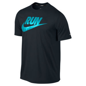Nike Men's Legend Run Swoosh Running T-Shirt - Black