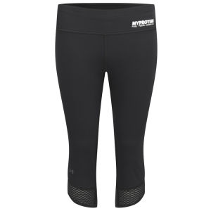 Under Armour Donna Pinocchietto Fly-By Compression, Nero