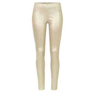 Joseph Women's 0669 Leather Leggings - Gold