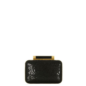 Diane Von Furstenberg Women's Tonda Small Chain Mail Clutch Bag - Black
