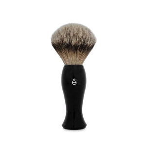 eShave Silvertip Badger Hair Shaving Brush Long Handle - Black