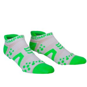 Compressport Pro Racing Socks - Run (LowCut) - White/Green