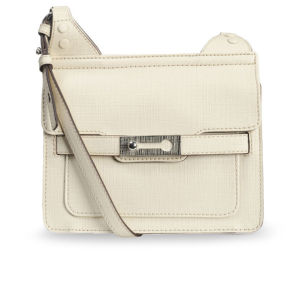 French Connection Air Of Elegance Small Leather Tote - Willow White
