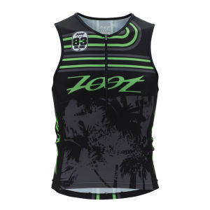 Zoot Men's Performance Triathlon Team Tank - Black/Green Flash