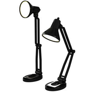 Mini Retro Style Desk Lamp Book Light - Black