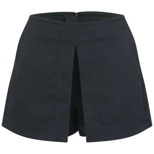 Victoria Beckham Women's Front Pleat Shorts - Navy