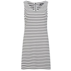 VILA Women's Tinny Striped Dress - Snow White