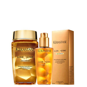 Kérastase Elixir Ultime Huile Lavante Bain (250ml) and Oil (125ml) Duo Bundle
