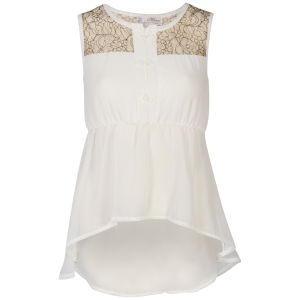 Nova Women's Lace Peplum Blouse - Cream