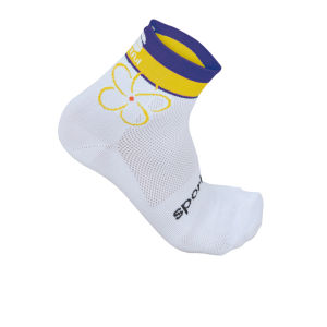 Sportful Women's Charm 3 Socks - White/Purple/Yellow