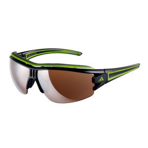Adidas Evil Eye Halfrim Pro Sunglasses - Shiny Black/Green - XS