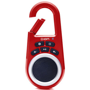 ION Audio Clipster Bluetooth Wireless Speaker with Built-in Clip - Red