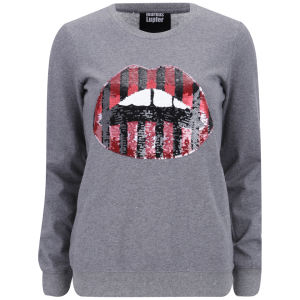 Markus Lupfer Women's Sequin Stripe Lara Sweatshirt - Grey
