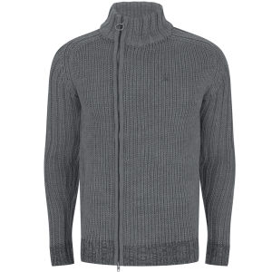 Ringspun Men's Glacier Point Zip Knit - Grey Marl