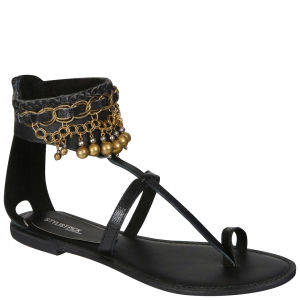 Stylist Pick 'Eva' Women's Jingle Sandal - Black