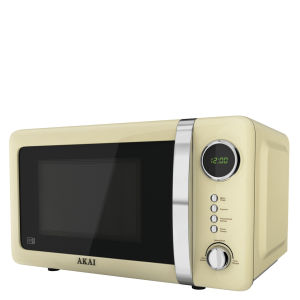 Akai 700W Digital Microwave - Cream