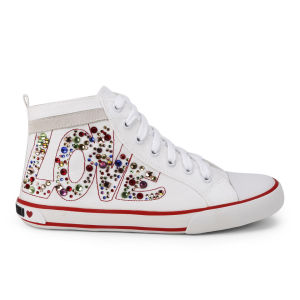 Love Moschino Women's Canvas Trainers - White