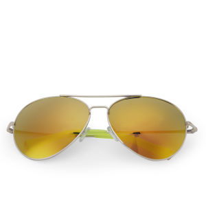 Matthew Williamson Mirror Lens Aviator Sunglasses - Gold