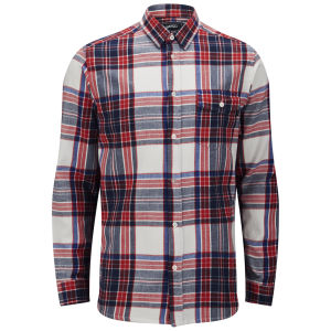 WeSC Men's Abdon Check Shirt - Winter White