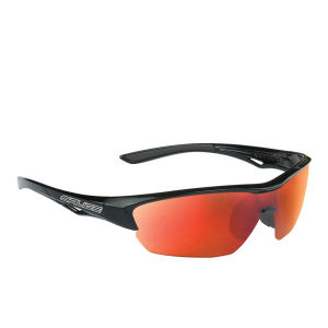 Salice 011 RW Sports Sunglasses - Mirror - Black/RW Red