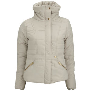 Vero Moda Women's Thunder Padded Coat - Oatmeal