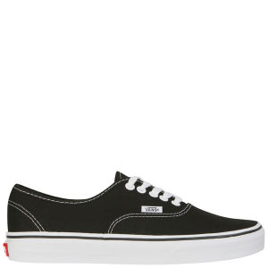 Vans Unisex Authentic Canvas Trainers - Black/White